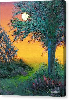 Under The Solstice Moon Canvas Print by Alys Caviness-Gober