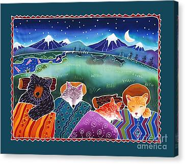 Coyote Canvas Print - Under The Stars by Harriet Peck Taylor