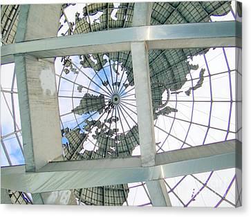 Under The Unisphere Canvas Print by Ed Weidman