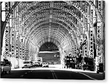 Under The West Side Highway Canvas Print by Dave Beckerman