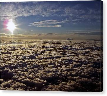 Canvas Print featuring the photograph Undercast And Sun by Greg Reed