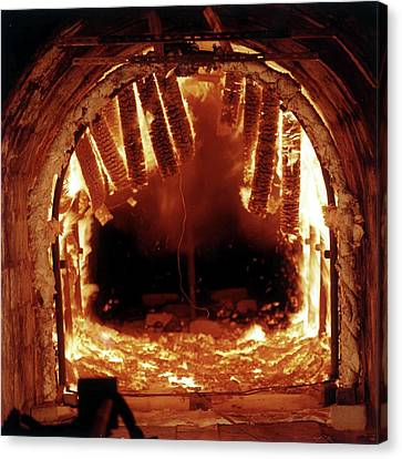 Underground Fire Simulation Canvas Print by Crown Copyright/health & Safety Laboratory Science Photo Library