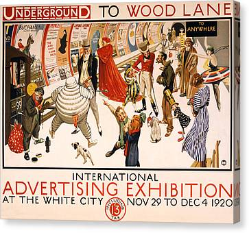 Underground To Wood Lane To Anywhere Canvas Print by Georgia Fowler