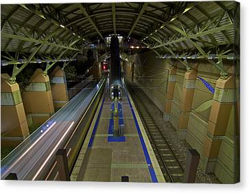 Canvas Print featuring the photograph Underground Transit by John Babis