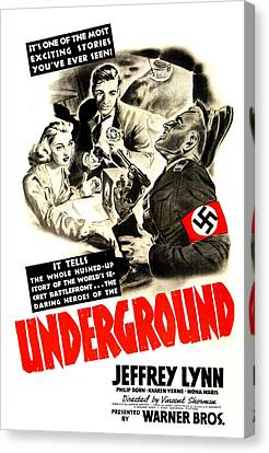 Underground, Us Poster, From Left Canvas Print
