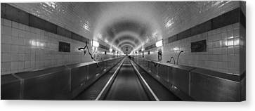 Underground Walkway, Old Elbe Tunnel Canvas Print by Panoramic Images
