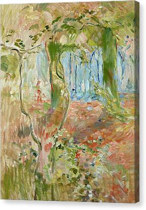 Undergrowth In Autumn Canvas Print by Berthe Morisot