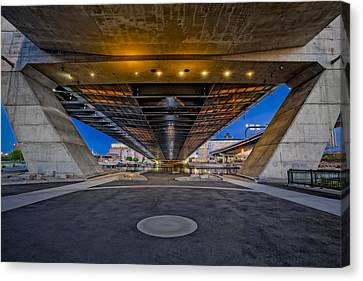 Underneath The Zakim Bridge Canvas Print by Susan Candelario