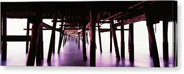 Clemente Canvas Print - Underneath View Of San Clemente Pier by Panoramic Images