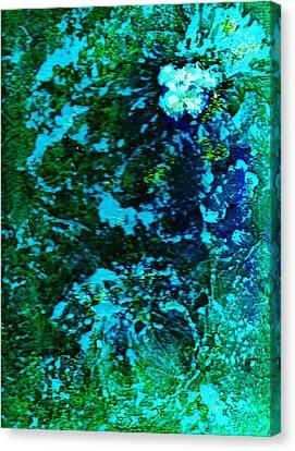 Undersea Mystery Flower II Canvas Print by Anne-Elizabeth Whiteway