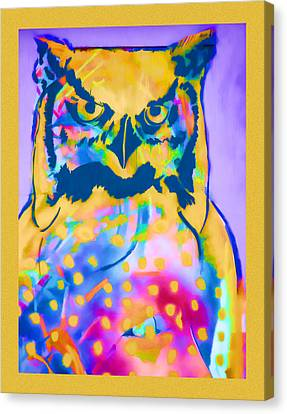 Understated Owl Canvas Print by Carol Leigh