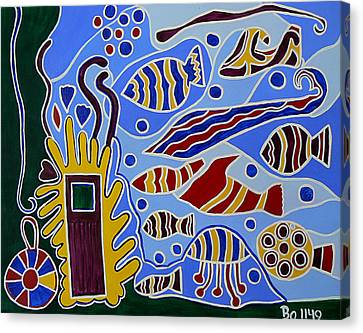 Underwater Door Canvas Print by Barbara St Jean