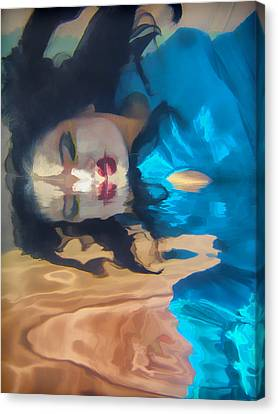 Underwater Geisha Abstract 1 Canvas Print by Scott Campbell