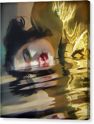 Underwater Geisha Abstract 2 Canvas Print