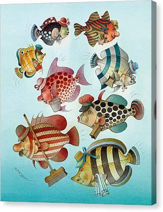 Azure Canvas Print - Underwater Story 01 by Kestutis Kasparavicius