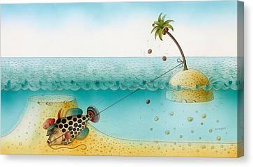 Underwater Story 03 Canvas Print by Kestutis Kasparavicius