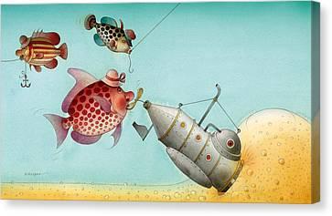 Underwater Story 04 Canvas Print by Kestutis Kasparavicius