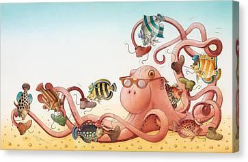Azure Canvas Print - Underwater Story 05 by Kestutis Kasparavicius