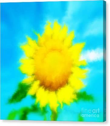 Underwater Sunflower Canvas Print by Lorraine Heath