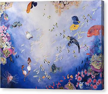 Underwater World Iv  Canvas Print by Odile Kidd
