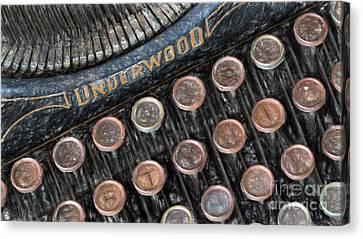 Underwood Typewriter Canvas Print by Carsten Reisinger