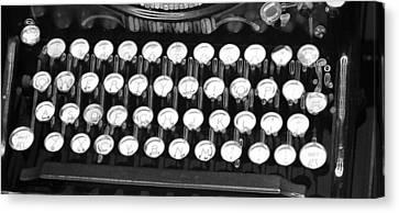 Underwood Typewriter Keys Canvas Print by Dan Sproul