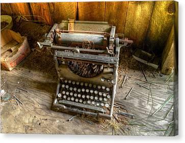 Underwood Typewriter No. 5 Canvas Print