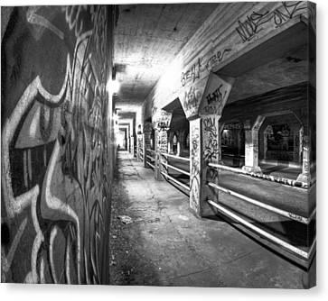 Underworld - The Krog Street Tunnel Canvas Print by Mark E Tisdale