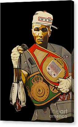 Boxer Canvas Print - Undisputed by Barbartisan Llc
