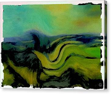 Undulating Green Canvas Print by Gun Legler