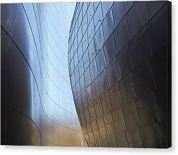Undulating Steel Canvas Print by Rona Black