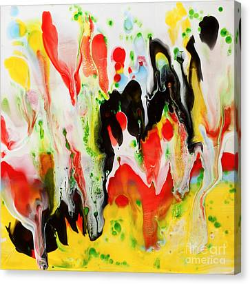 Undulation Encaustic Canvas Print by Pattie Calfy