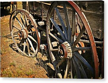 Unequal Wheels Canvas Print by Marty Koch