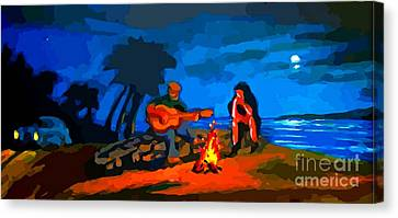 Unexpected Guests Arriving Canvas Print by John Malone