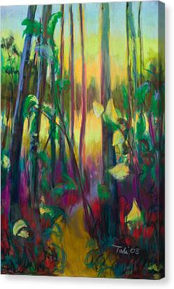 Unexpected Path - Through The Woods Canvas Print by Talya Johnson