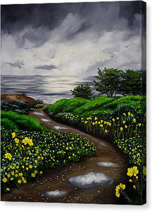 Unexpected Summer Rain Canvas Print by Laura Iverson