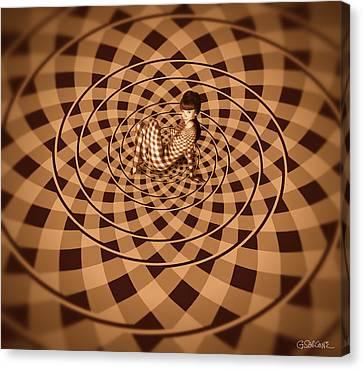 Unexpected Vortex Of Love Canvas Print