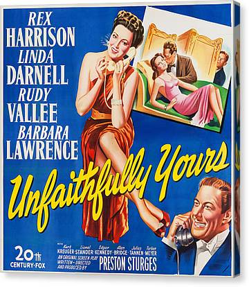 Sturges Canvas Print - Unfaithfully Yours, Us Poster by Everett