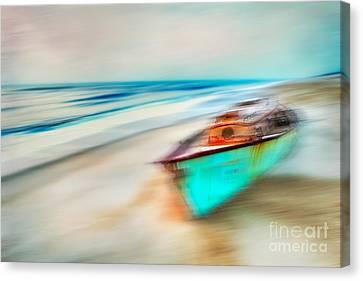 Unfortunate Tides - A Tranquil Moments Landscape Canvas Print by Dan Carmichael