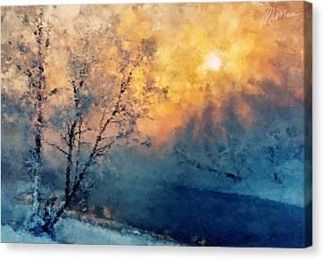 Unfrozen River Canvas Print by Marina Likholat