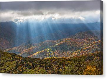 Canvas Print featuring the photograph Unfurled Autumn Splendor by Carl Amoth