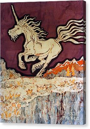 Unicorn Above Chasm Canvas Print