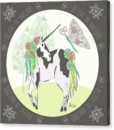 Unicorn Canvas Print - Unicorn II by Shanni Welsh