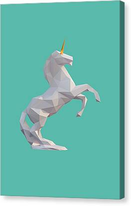Unicorns Canvas Print - Unicorn by Pollyanna Illustration
