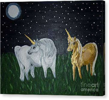 Unicorns For Julie Canvas Print by Cassandra Buckley