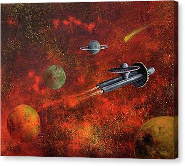 Unidentified Flying Object Canvas Print by Randy Burns