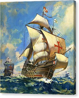 Sailing Ocean Canvas Print - Unidentified Sailing Ships by Andrew Howat