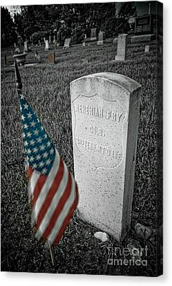 Union Army Civil War Veteran Headstone Hygiene Co Canvas Print by James BO  Insogna