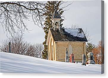 Union Cemetery Chapel Canvas Print by Susan  McMenamin