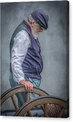 Union Civil War Soldier The Veteran  Canvas Print by Randy Steele